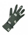 Flower print jersey grey gloves by Earth Squared