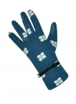 Flower print jersey navy blue gloves by Earth Squared