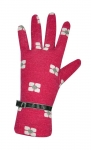 Flower print jersey pink gloves by Earth Squared