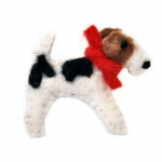 Freddy Fox Terrier Felt Brooch
