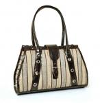Gambela Straw & cotton Handbag