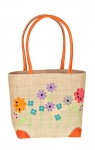 Garden Border Raffia Straw Bag Fair Trade by Madaraff