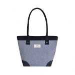 Herringbone Handbag Tote Bag Fair Trade Earth Squared