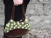 Indulgence Velvet Pompom Fair Trade Handbag