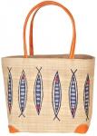 Little Fishes Raffia Straw Bag Fair Trade by Madaraff