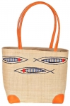 Little Fishes Raffia Straw Bag Fair Trade by Madaraff