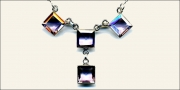 Square cut amethyst necklace
