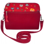Owl Handbag Fairtrade by Earth Squared Lucy Red