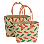 Raffia Straw Bag for Beach Picnic Shopping Chiilis FairTrade