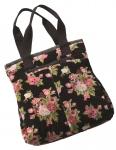 Sabrina flower printed velvet bag  by Namaste