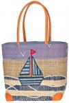 Sailboat Raffia Straw Bag Fair Trade by Madaraff