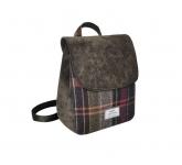 Tweed Backpack Fair Trade Handbag by Earth Squared