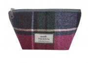 Tweed Make Up Bag Fair Trade Handbag by Earth Squared
