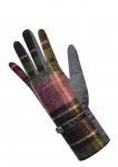 Tweed gloves damson fairtrade by Earth Squared