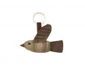 Tweed keyring bag charm bird fairtrade by Earth Squared