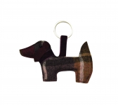 Tweed keyring bag charm dog fairtrade by Earth Squared