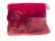Velvet Brocade Purse red
