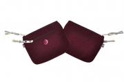 Wool coin purse Emily maroon  fairtrade by Earth Squared