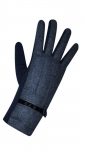 Wool gloves blue fairtrade by Earth Squared