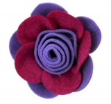 Rose Fair Trade Felt Flower Brooch Corsage
