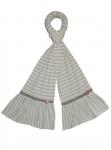 Naomi Jersey Scarf Lilac Brown Stripe
