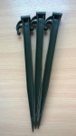 "12"" ARMY GREEN EXTRA HEAVY DUTY PLASTIC TENT PEG X 15"