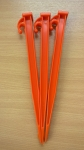 "12"" ORANGE EXTRA HEAVY DUTY PLASTIC TENT PEG X 15"