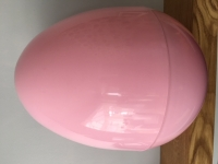 GIANT PLASTIC EGG - BABY PINK