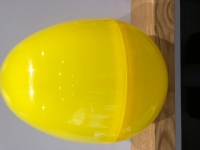 GIANT PLASTIC EGG - LEMON SPARKLE