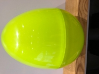 GIANT PLASTIC EGG - LIME SPARKLE