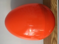 GIANT PLASTIC EGG - ORANGE