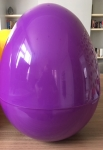 GIANT PLASTIC EGG - PURPLE