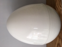 GIANT PLASTIC EGG - WHITE