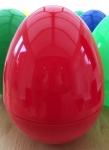 GIANT PLASTIC HOLLOW EGG -RED