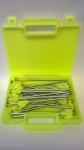 HARD GROUND TENT PEGS FLOURESCENT YELLOW