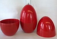 LARGE PLASTIC EASTER/PARTY/GIFT EGG - RED