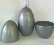 LARGE PLASTIC EASTER/PARTY/GIFT EGG - SILVER