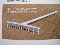 MONOTINE GOLF RAKE WHITE
