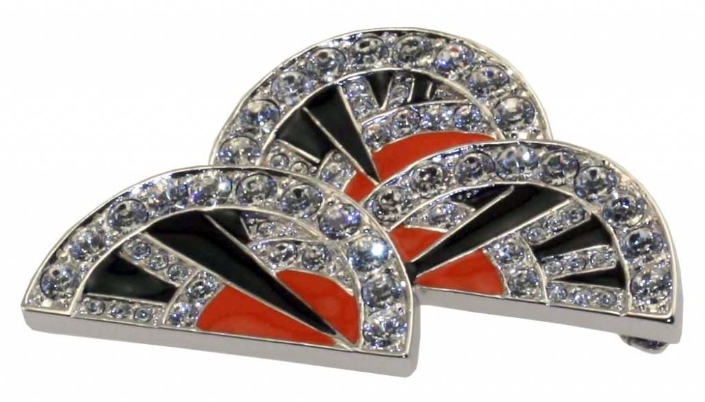Art Deco Fan Shaped Brooch