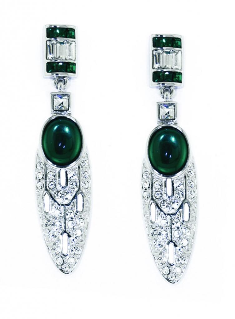 Art Deco Vert Earrings