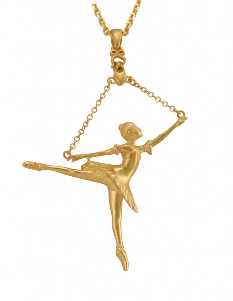Ballerina arabesque pendant gold plated ballet range pendant ballerina arabesque pendant gold plated mozeypictures Image collections