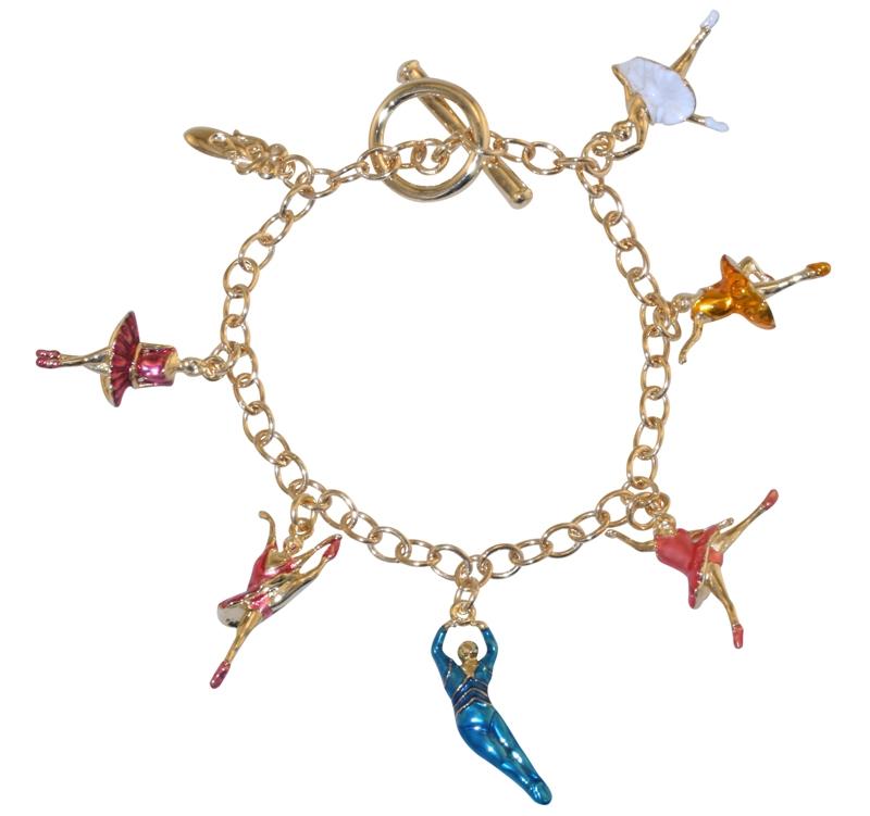 Ballerina Charm Bracelet Gold Plated