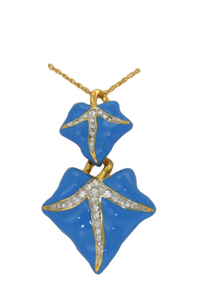 Blue ivy leaf pendant va the victoria and albert museum blue ivy leaf pendant mozeypictures Image collections