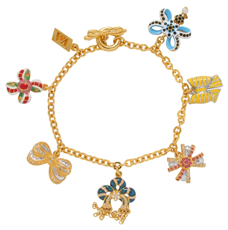 bows through the ages charm bracelet v a the