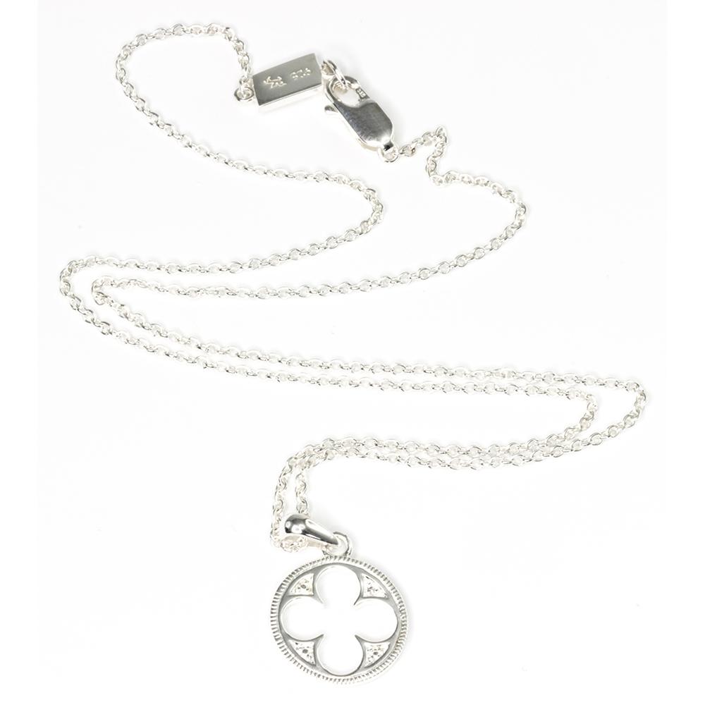 Gothic quatrefoil necklace plain silver va the victoria and gothic quatrefoil necklace plain silver aloadofball Choice Image