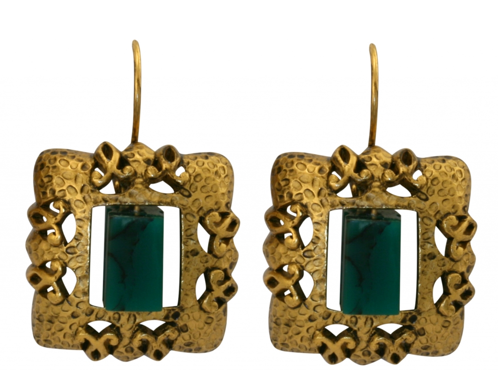 Roman Style Square Earrings
