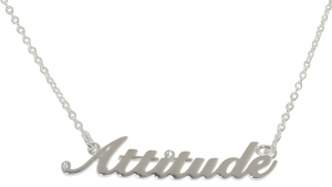 """Attitude"" Pendant - Polished Silver plated"