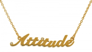 """Attitude"" Pendant - Polished Gold plated"