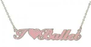 """I Love Ballet"" Pendant Pink"