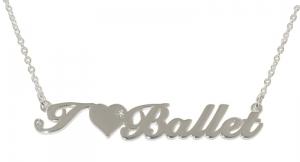 """""""I Love Ballet"""" Pendant Polished Silver"""